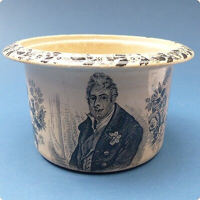 Mega Rare c1831 King William & Queen Adelaide Pot