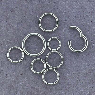 Hinged CBR Captive Bead Ring Stainless Steel Lip Nipple Earring