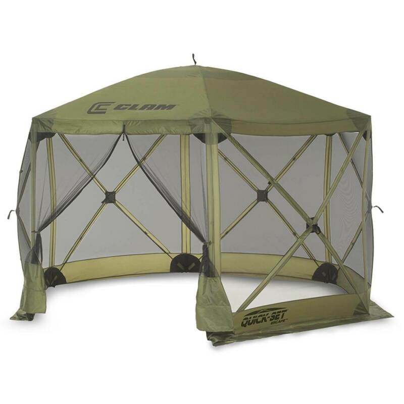 Clam Quick Set Escape Portable Camping Outdoor Gazebo Canopy Shelter (Open Box)