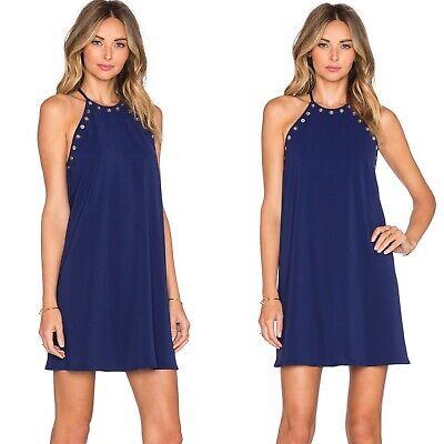 AMANDA UPRICHARD Navy Montauk Cocktail Party Mini Dress size 6 Montauk Blue Apparel