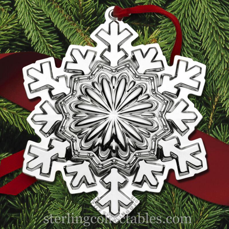 Tuttle 2015 Annual Snowflake Sterling Ornament NIB