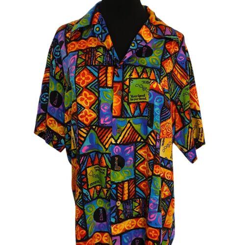United Airlines Margolis Flight Attendant Hawaiian Shirt XL Aloha 60s 70s Tiki