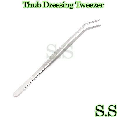 Huge Tweezer Thumb Dressing Forceps 12 - Curved