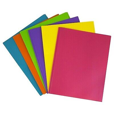 Jam Paper Plastic 2-pocket Folders Eco Friendly Folder With Metal Clasps Ass