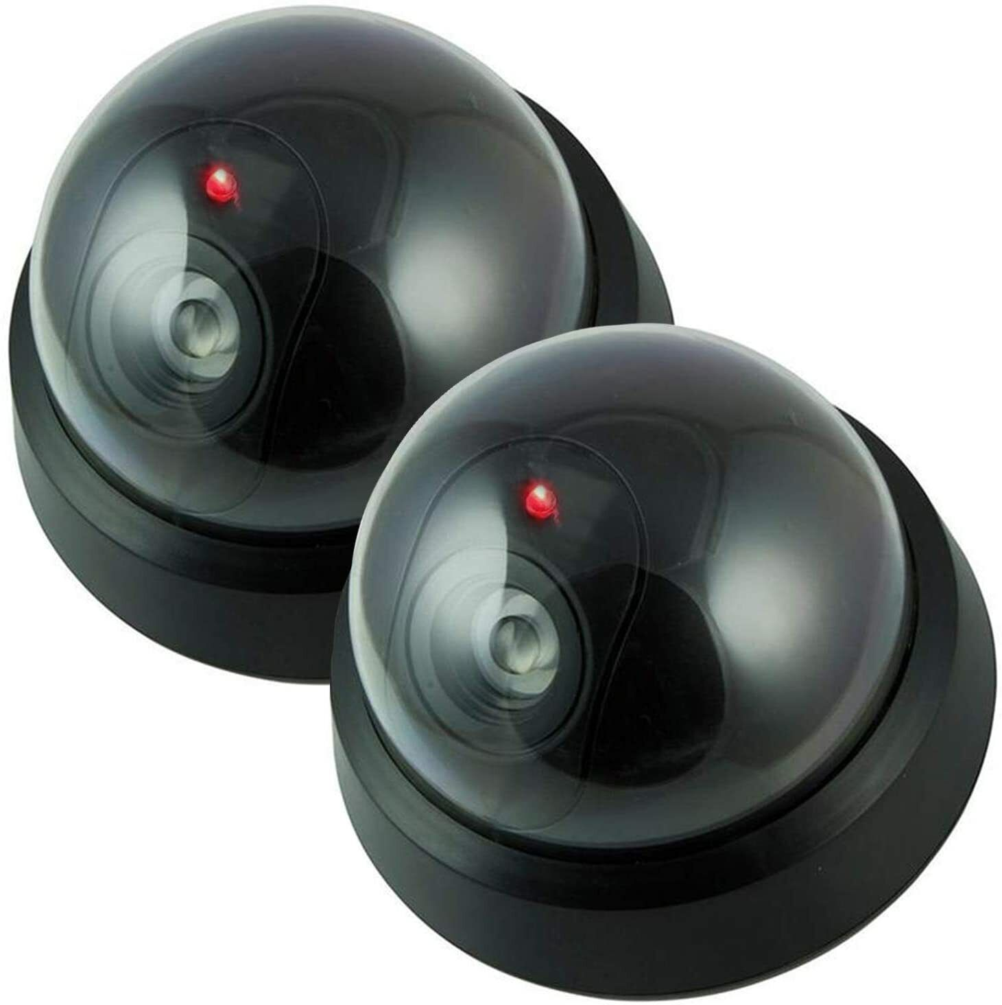 Wireless Decoy Security Dummy Surveillance Camera with Flashing LED- 2 Pack Consumer Electronics