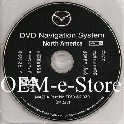 2008 2009 2010 Mazda 5 Mazda5 Navigation DVD Map WEST Coast U.S +Canada