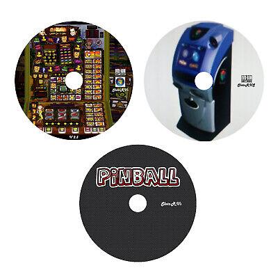 3 DVD Set, Fruit Machine, Quiz Machine & Pinball Emulator DVD's PC Laptop Slot