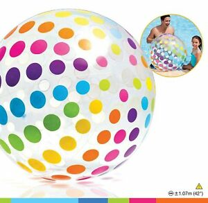 Colorful Giant Beach Ball Intex Jumbo Inflatable Glossy Big Panel  42