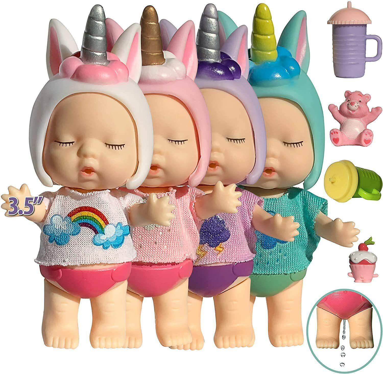 Toys for Girls 3 4 5 Years old Unicorn Mini Figure Doll Set