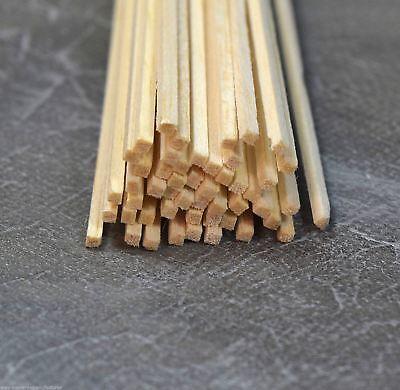 WWS Balsa Wood Strips 2.4 x 2.4 x 305 mm (3/32x3/32x12 inch)  -45 Pack – -