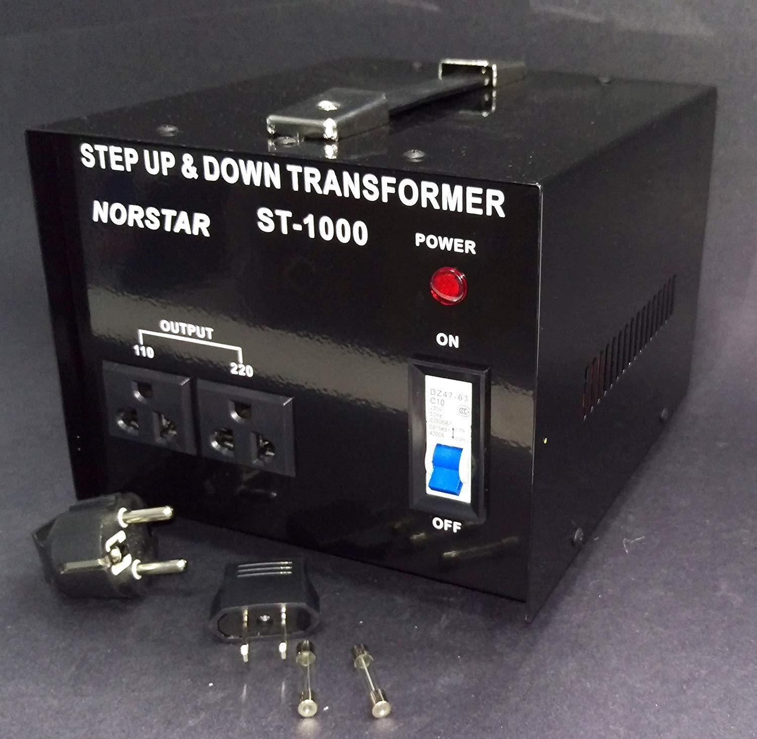 как выглядит 1000 watt Step Up Step Down Voltage Transformer Converter With Fuse Protection - фото