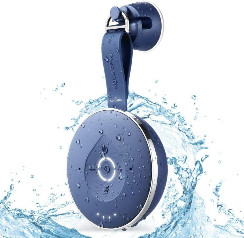 Aqua Dew - Alexa Speaker Waterproof Splash Shower WiFi Bluetooth Smart (Blue)