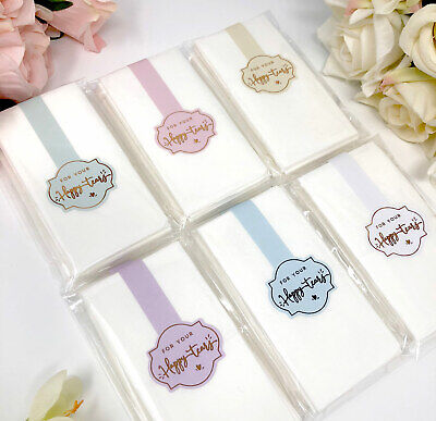 For your Happy Tears -  sticker tissues, Hankies, Foil Colour choice wedding (Happy Tears)
