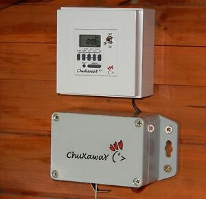 Chuxaway SCX Automatic Chicken Door Opener   Coop / Pop Hole Opener With  Timer