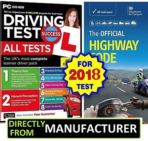 2018 Driving Theory Test and Hazard CD DVD + Official DSA Highway Code Book DVLA