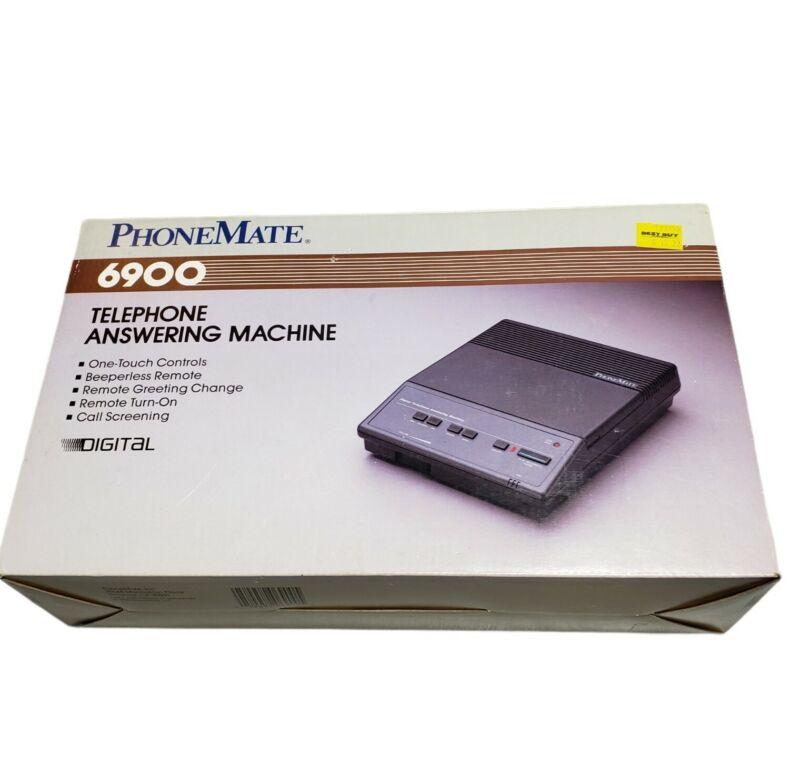 Vintage 1988 PhoneMate 6900 Telephone Answering Machine Recorder *NEW* Open Box