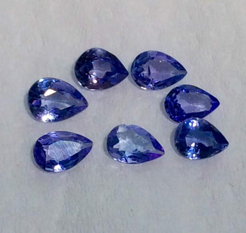 2.77cts Top Quality 7 Pieces Blue Tanzanite Setting Size Gemstone