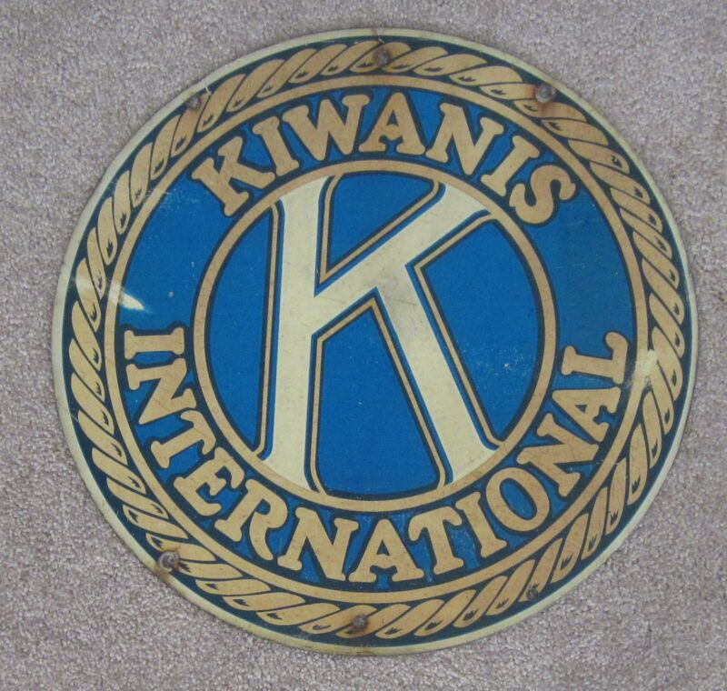 Kiwanis International Metal Sign Double Sided