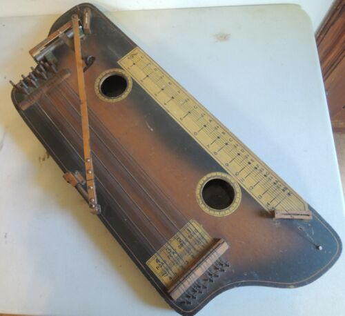 Antique Tremoloa Zither W/ Thumbpick and slide