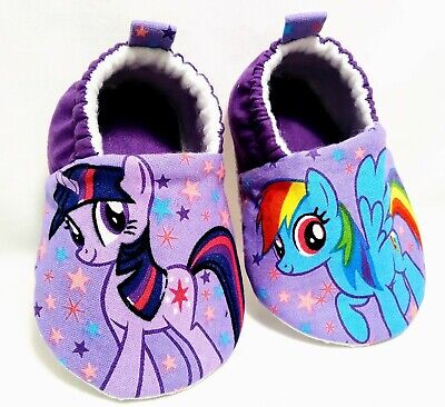 My Little Pony Soft Baby Shoes * 9-12 months * Purple Turquoise -