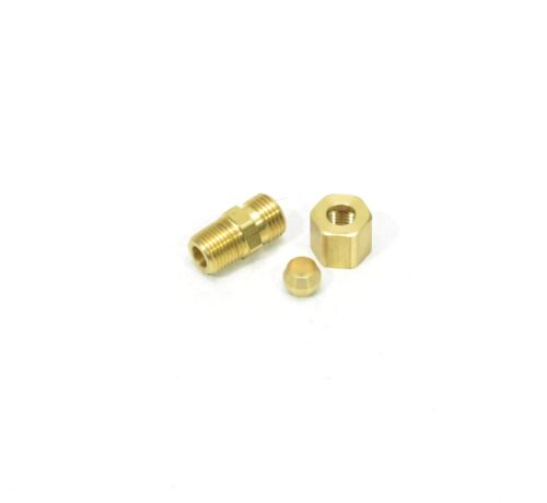 "1/4"" Tube OD Compression to 1/8"" Male NPT Fitting Adapter Connector"