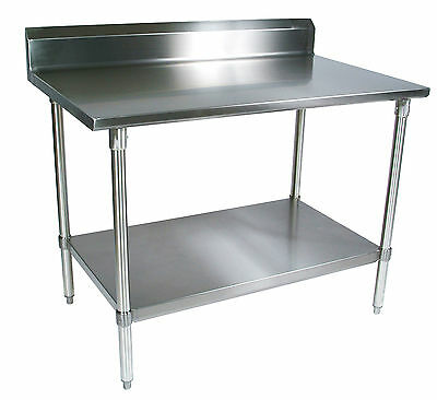 30 x 30 Restaurant Stainless Steel Food Work Prep Table with 5