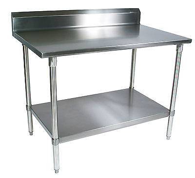 30 x 60 Restaurant Stainless Steel Food Work Prep Table with 5