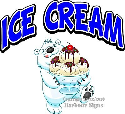 Ice Cream Decal Choose Your Size Truck Concession Vinyl Sign Sticker