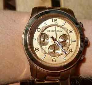 Michael Kors rose gold chrono watch Sutherland Sutherland Area Preview