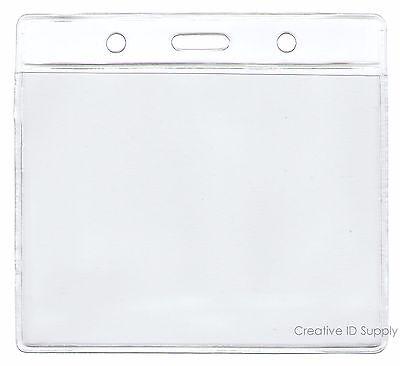 100 Clear Plastic Id Badge Holders Verticalhorizontal Clear Vinyl Sleeve