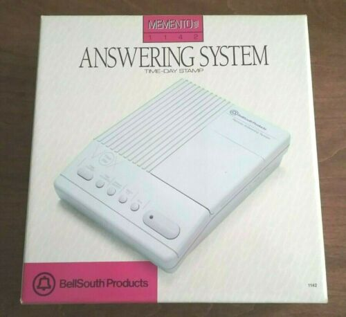 NOS Bellsouth Memento 1142 Answering System Microcassette Talking Time Day Stmp