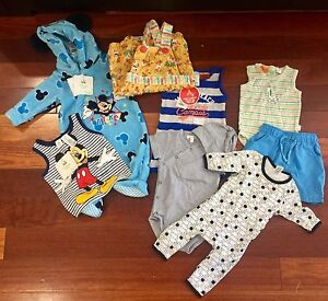 DESIGNER BABY BOY CLOTHING BUNDLE SIZE: 000 & 00 - BRAND NEW (37 pces) Albion Brisbane North East Preview
