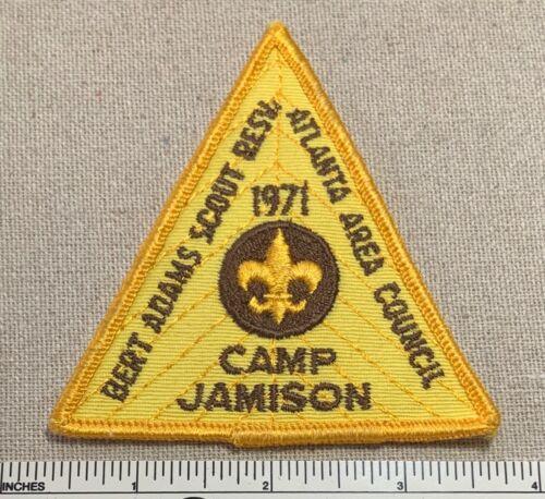 1971 CAMP JAMISON Boy Scout PATCH Bert Adams Reservation Atlanta Area Council