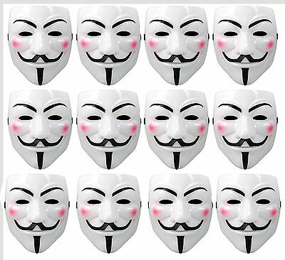 V For Vendetta White Costume Mask Guy Fawkes Anonymous Purge Costume Prop - V For Vendetta Mask Costume