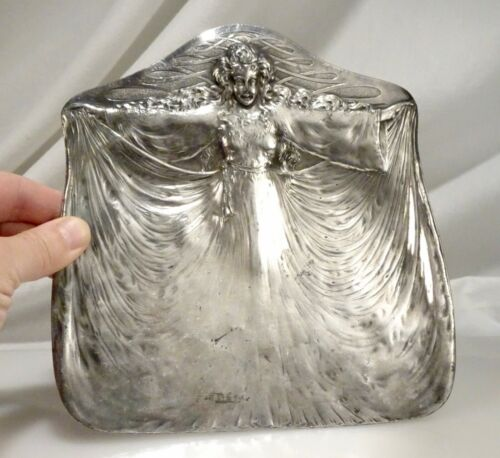 Antique Art Nouveau James Tufts Silverplate Plate Tray -  57569