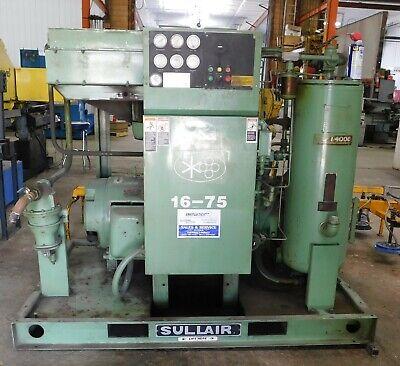 10424 Sullair 75 Hp Rotary Screw Air Compressor