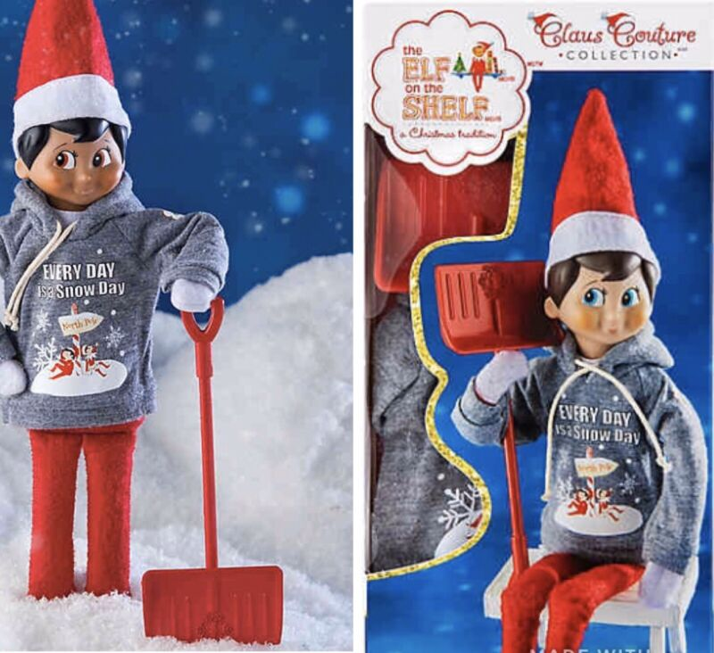 Shovel & Play Snow Day Set Elf on The Shelf Claus Couture Hoodie Sweatshirt 2019