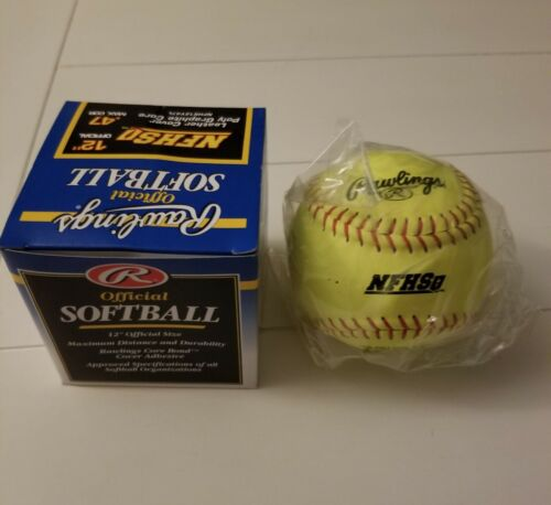 "(12) Rawlings NFHS12Y47L Official 12"" Fastpitch Softballs - One Dozen"