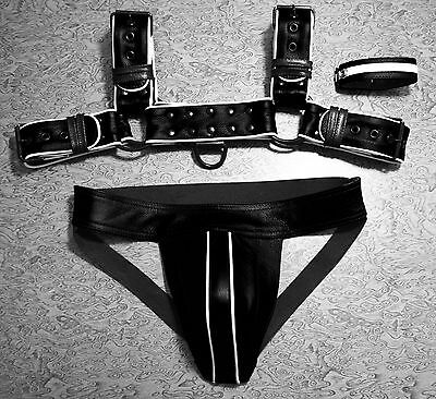 Sexy Mens Leather Chest Body Harness Strap Gay Clubwear Costume Punk Belt black