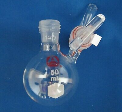 Aldrich 50ml Schlenk Solvent Flask W Glass Stopcock 1420 Z173061