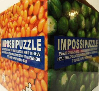 Impossipuzzle: Beans And Sprouts - Double-sided Jigsaw Puzzle 550 Pieces Funtime