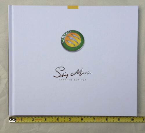 Lister Stirling Moss limited edition brochure hardcover book, 35 pages, NEW