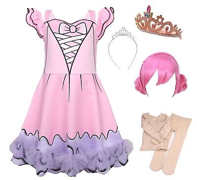 Kostüme Center (Simile Lol Center Vestito Carnevale Bambina Tipo Lol Stage Dress Cosplay LOLCES1)