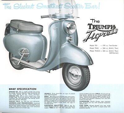 Triumph Tigress Scooter Brochure  Original New Old stock+ plus accessories flyer