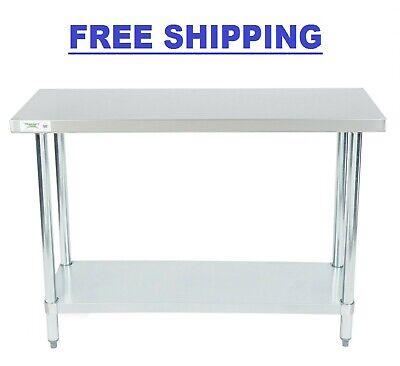 Stainless Steel Work Prep Shelf Table Commercial Restaurant 18 Gauge 18 X 48
