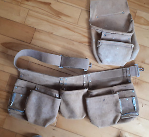 Suede tool apron and nail pouch