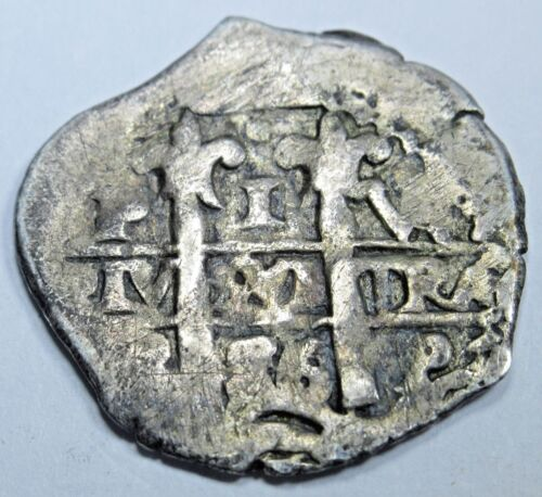 1686 Spanish Silver 1 Real Cob Piece of 8 Real Colonial Era Pirate Treasure Coin