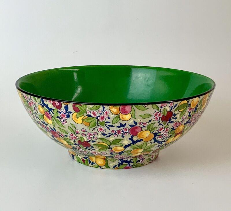 Antique Crown Ducal England Chintz Large Serving Bowl