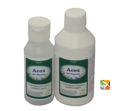 50ml Acox, For Pigeons and British Birds Prevent Birds Going Light (Coccidiosis)