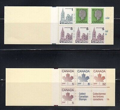Canada--MNH--2 booklet panes  Sc #797a-6 and 946b-4+2 Labels